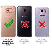 Handykette + Hülle für Samsung Galaxy J4 Plus Schutzhülle mit Trage Band Kordel Schnur Case zum umhängen