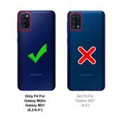 Handykette + Hülle für Samung Galaxy M30s, Samsung M21 Schutzhülle mit Band Kordel Schnur Case zum umhängen