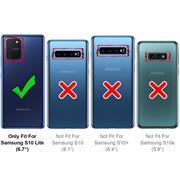 Handykette Camouflage Grün + Hülle für Samsung Galaxy S10 Lite Schutzhülle mit Trage Band Kordel Schnur Case zum umhängen