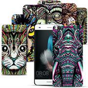 Azteken Design Hard Case für Huawei P8 Lite Hülle - Schutzhülle mit Waterprint Muster