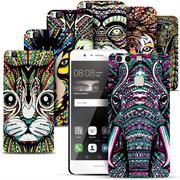 Azteken Design Hard Case für Huawei P9 Lite Hülle - Schutzhülle mit Waterprint Muster