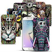 Azteken Design Hard Case für Samsung Galaxy S6 Edge Hülle - Schutzhülle mit Waterprint Muster