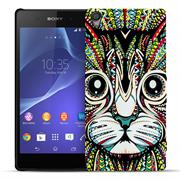 Azteken Schutz Hülle für Sony Xperia M4 Aqua Backcover Handy Case