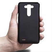 Silikonhülle für LG G3 Hülle + Panzerglas Folie Schutzhülle in Schwarz