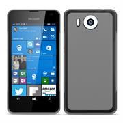Silikonhülle für Microsoft Lumia 950 XL Hülle + Panzerglas Folie Schutzhülle in Transparent