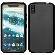 Matte Silikon Hülle für Motorola One Backcover Handy Case