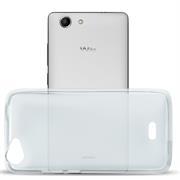 Silikonhülle für Wiko Pulp 4G Hülle + Panzerglas Folie Schutzhülle in Transparent