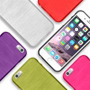 Brushed Silikonhülle für Apple iPhone 6 / 6S Schutzhülle Cover im gebürstetem Design Metallic Look