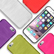Handy Hülle für Apple iPhone 6 Plus / 6S Plus Case im Brushed Look