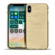 Handy Hülle für Apple iPhone X / XS Case im metallischen Brushed Look