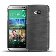 Handy Hülle für HTC One M7 Case Backcover im metallischen Brushed Look