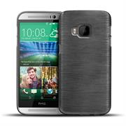 Handy Hülle für HTC One M9 Case Backcover im metallischen Brushed Look