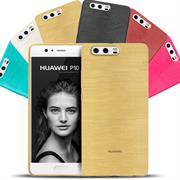 Handy Hülle für Huawei P10 Case Backcover im metallischen Brushed Look