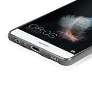 Brushed Silikonhülle für Huawei P8 Schutzhülle Cover im gebürstetem Design Metallic Look