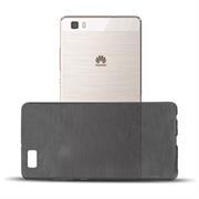 Brushed Silikonhülle für Huawei P8 Lite Schutzhülle Cover im gebürstetem Design Metallic Look