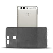 Brushed Silikonhülle für Huawei P9 Schutzhülle Cover im gebürstetem Design Metallic Look