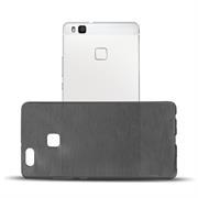 Handy Hülle für Huawei P9 Lite Backcover im metallischen Brushed Look