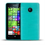 Brushed Silikonhülle für Nokia Lumia 530 Schutzhülle Cover im gebürstetem Design Metallic Look