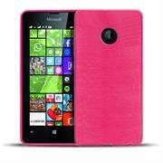 Handy Hülle für Microsoft Lumia 530 Case im metallischen Brushed Look