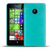 Brushed Silikonhülle für Microsoft Lumia 532 Schutzhülle Cover im gebürstetem Design Metallic Look
