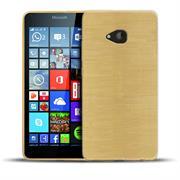 Handy Hülle für Microsoft Lumia 535 Case im metallischen Brushed Look
