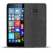 Handy Hülle für Microsoft Lumia 540 Case im metallischen Brushed Look