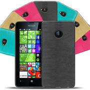 Handy Hülle für Microsoft Lumia 630 / 635 Case im Brushed Look