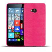 Brushed Silikonhülle für Microsoft Lumia 640 Schutzhülle Cover im gebürstetem Design Metallic Look