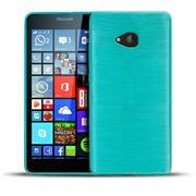 Brushed Silikonhülle für Microsoft Lumia 640 XL Schutzhülle Cover im gebürstetem Design Metallic Look