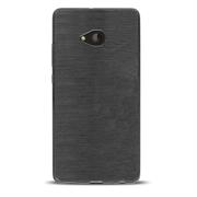 Brushed Silikonhülle für Nokia Lumia 730 Schutzhülle Cover im gebürstetem Design Metallic Look