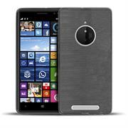 Brushed Silikonhülle für Nokia Lumia 830 Schutzhülle Cover im gebürstetem Design Metallic Look