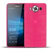Brushed Silikonhülle für Microsoft Lumia 950 Schutzhülle Cover im gebürstetem Design Metallic Look