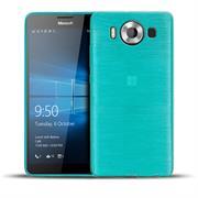 Brushed Silikonhülle für Microsoft Lumia 950 XL Schutzhülle Cover im gebürstetem Design Metallic Look