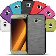 Handy Hülle für Samsung Galaxy A3 2017 Case im Brushed Look