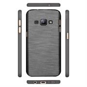 Handy Hülle für Samsung Galaxy J1 2016 Case im Brushed Look