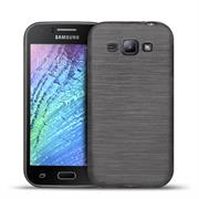 Handy Hülle für Samsung Galaxy J1 2015 Case Backcover im Brushed Look