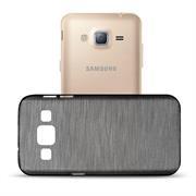 Brushed Silikonhülle für Samsung Galaxy J5 Schutzhülle Cover im gebürstetem Design Metallic Look