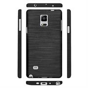Handy Hülle für Samsung Galaxy Note 4 Case Backcover im Brushed Look