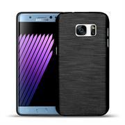 Brushed Silikonhülle für Samsung Galaxy Alpha Schutzhülle Cover im gebürstetem Design Metallic Look