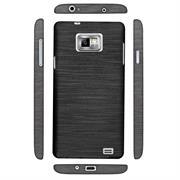 Brushed Silikonhülle für Samsung Galaxy S2 / S2 Plus Schutzhülle Cover im gebürstetem Design Metallic Look