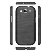 Handy Hülle für Samsung Galaxy S3 / S3 Neo Case im Brushed Look