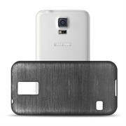 Handy Hülle für Samsung Galaxy S5 Mini Case Backcover im Brushed Look
