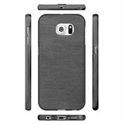Handy Hülle für Samsung Galaxy S6 Case im metallischen Brushed Look