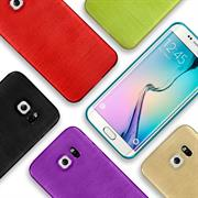 Handy Hülle für Samsung Galaxy S6 Edge Case Backcover im Brushed Look