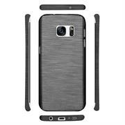 Handy Hülle für Samsung Galaxy S7 Edge Case im Brushed Look