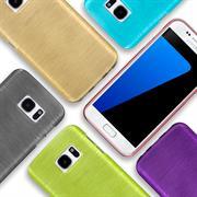 Brushed Silikon Hülle für Samsung Galaxy S8 Schutzhülle Cover im gebürstetem Design