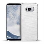Handy Hülle für Samsung Galaxy S8 Case im metallischen Brushed Look