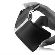 Handy Hülle für Sony Xperia E1 Backcover im metallischen Brushed Look