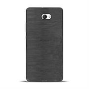 Brushed Silikonhülle für Sony Xperia M2 Schutzhülle Cover im gebürstetem Design Metallic Look