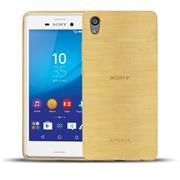 Handy Hülle für Sony Xperia M4 Aqua Case im metallischen Brushed Look